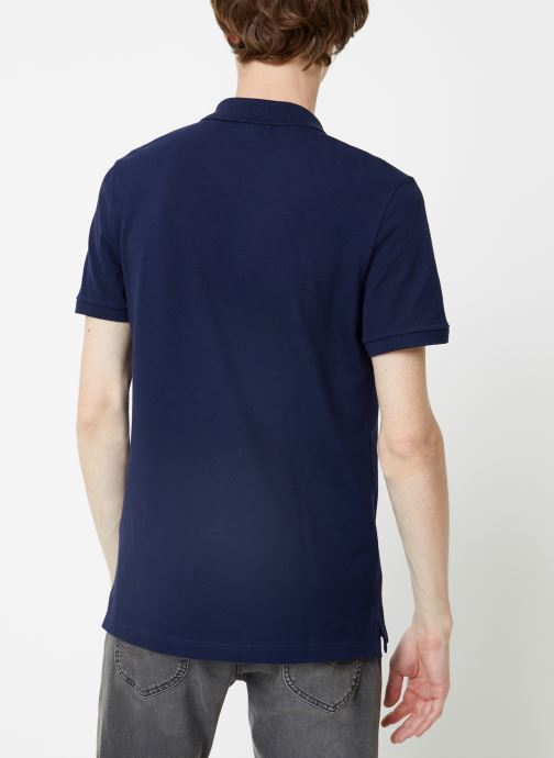 Kleding Lacoste Polo PH4012 Slim Fit Manches Courtes Blauw model