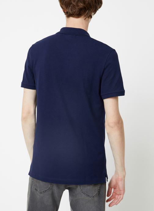 Vêtements Lacoste Polo PH4012 Slim Fit Manches Courtes Bleu vue portées chaussures