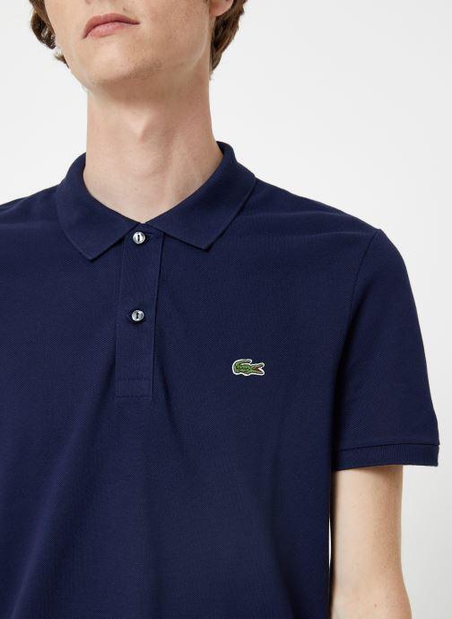 Vêtements Lacoste Polo PH4012 Slim Fit Manches Courtes Bleu vue face