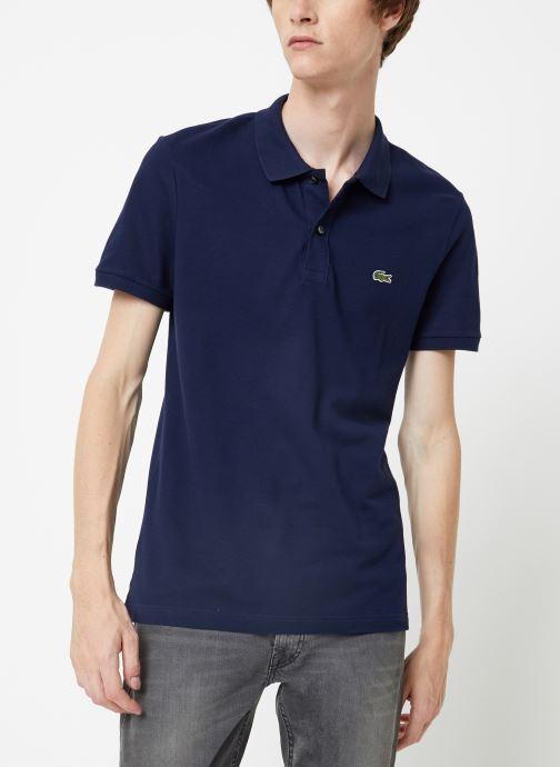 Tøj Lacoste Polo PH4012 Slim Fit Manches Courtes Blå Se fra højre
