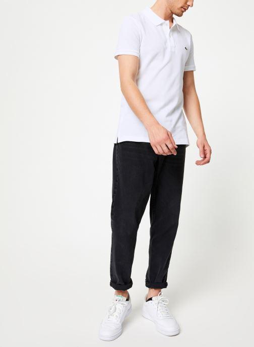 Vêtements Lacoste Polo PH4012 Slim Fit Manches Courtes Blanc vue bas / vue portée sac