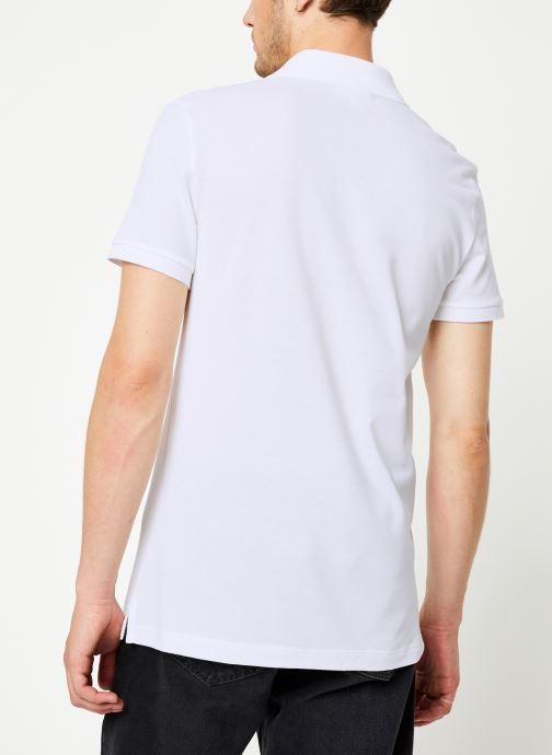 Vêtements Lacoste Polo PH4012 Slim Fit Manches Courtes Blanc vue portées chaussures