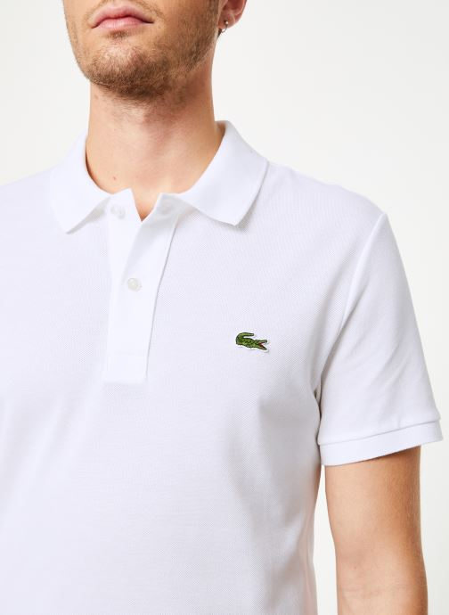 Kleding Lacoste Polo PH4012 Slim Fit Manches Courtes Wit voorkant