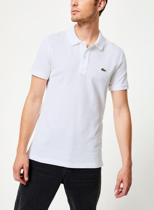 Vêtements Lacoste Polo PH4012 Slim Fit Manches Courtes Blanc vue droite