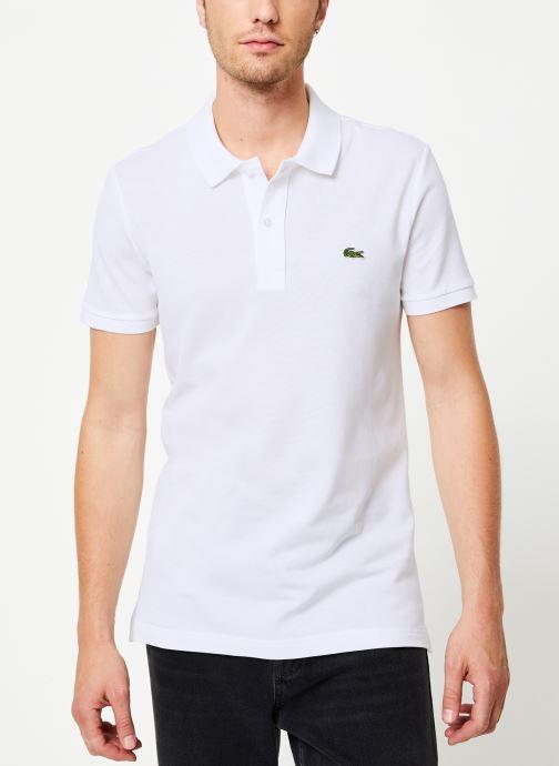 Vêtements Lacoste Polo PH4012 Slim Fit Manches Courtes Blanc vue détail/paire