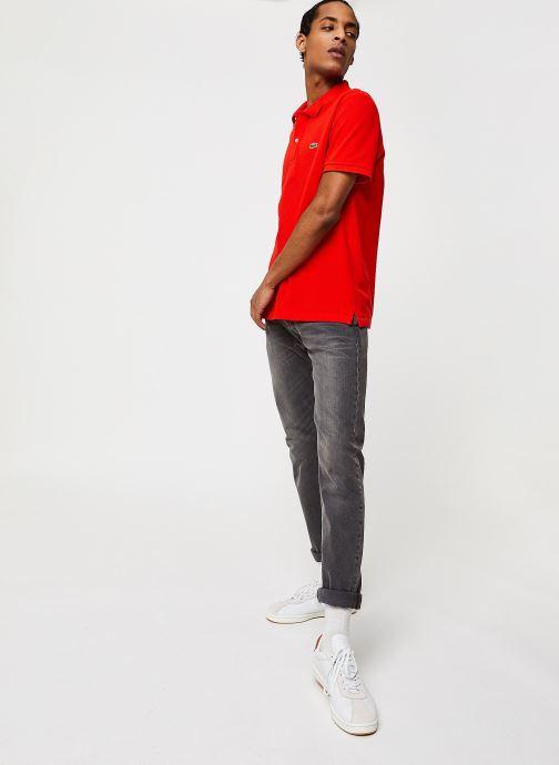 Vêtements Lacoste Polo PH4012 Slim Fit Manches Courtes Rouge vue bas / vue portée sac