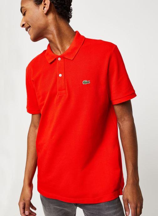 Vêtements Lacoste Polo PH4012 Slim Fit Manches Courtes Rouge vue droite