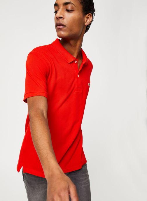 Vêtements Lacoste Polo PH4012 Slim Fit Manches Courtes Rouge vue détail/paire