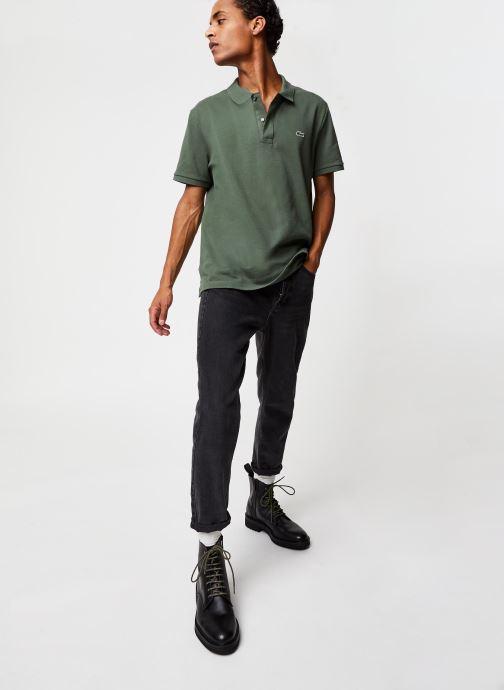 Vêtements Lacoste Polo PH4012 Slim Fit Manches Courtes Vert vue bas / vue portée sac