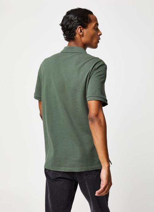 Vêtements Lacoste Polo PH4012 Slim Fit Manches Courtes Vert vue portées chaussures