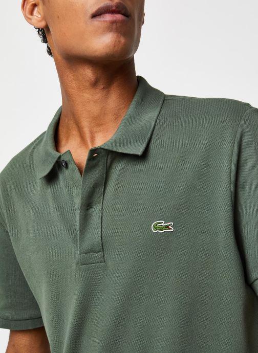 Vêtements Lacoste Polo PH4012 Slim Fit Manches Courtes Vert vue face