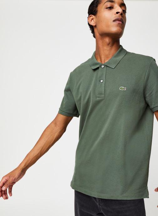 Vêtements Lacoste Polo PH4012 Slim Fit Manches Courtes Vert vue droite