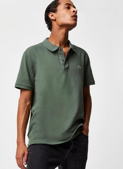 Vêtements Lacoste Polo PH4012 Slim Fit Manches Courtes Vert vue détail/paire