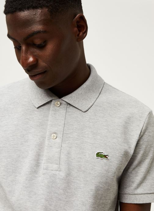 Vêtements Lacoste Polo PH4012 Slim Fit Manches Courtes Gris vue face