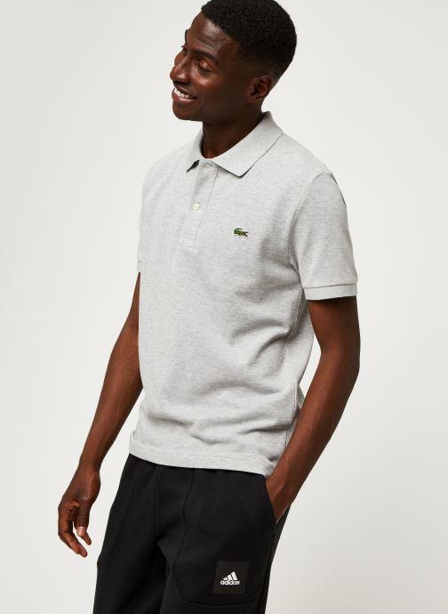 Vêtements Lacoste Polo PH4012 Slim Fit Manches Courtes Gris vue droite