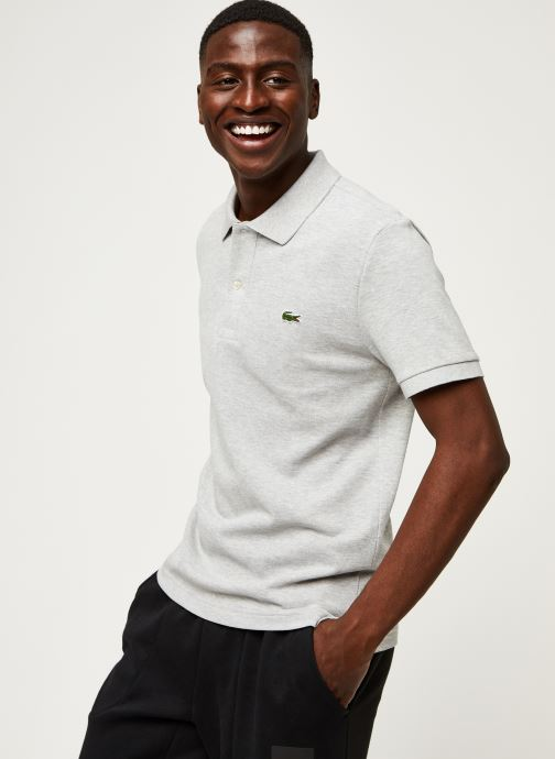Vêtements Lacoste Polo PH4012 Slim Fit Manches Courtes Gris vue détail/paire