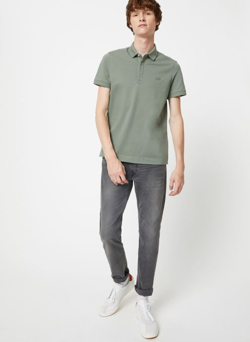 Kläder Lacoste Polo Regular Fit Manches Courtes Blå bild från under