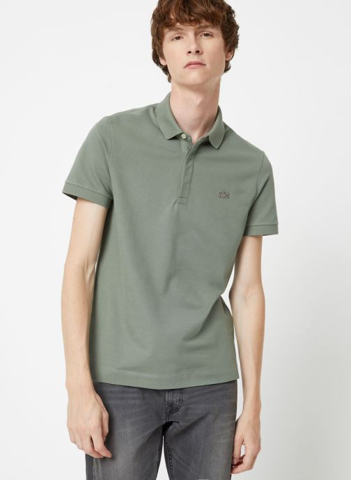Kleding Lacoste Polo Regular Fit Manches Courtes Blauw detail