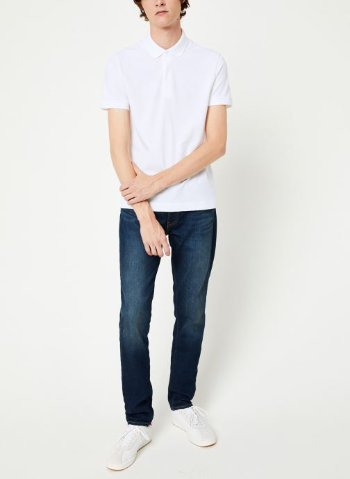 Vêtements Lacoste Polo Regular Fit Manches Courtes Blanc vue bas / vue portée sac