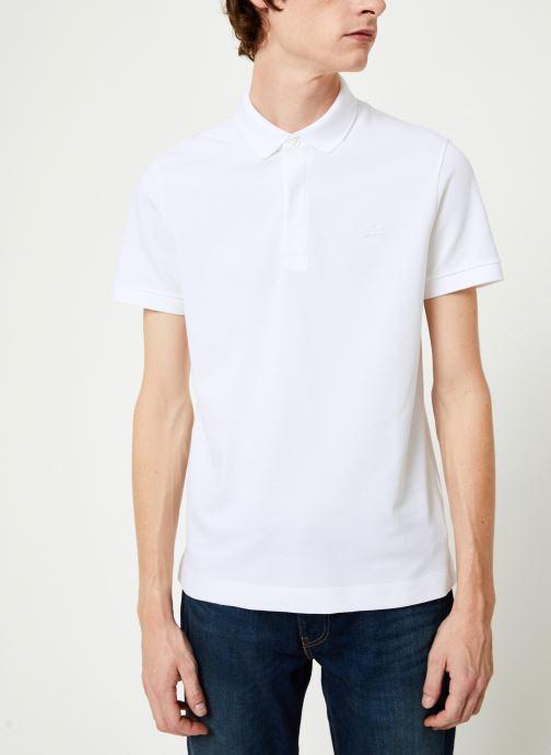 Vêtements Lacoste Polo Regular Fit Manches Courtes Blanc vue droite
