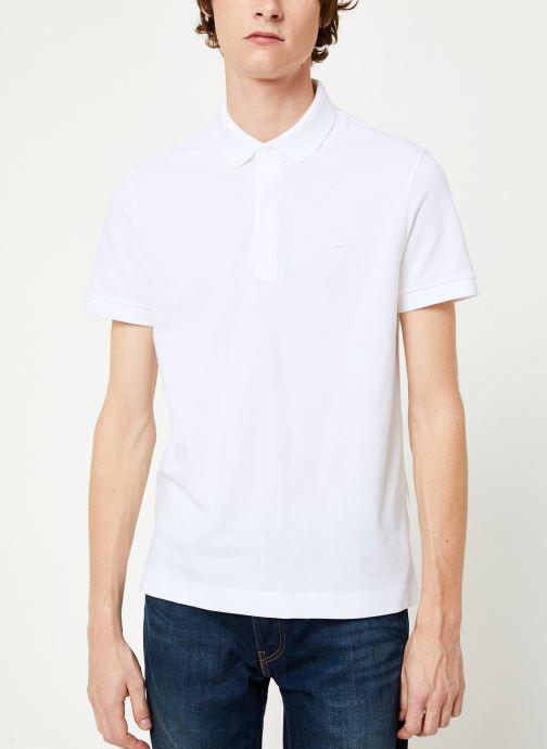 Vêtements Lacoste Polo Regular Fit Manches Courtes Blanc vue détail/paire