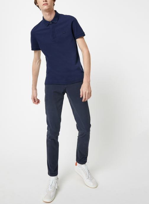 Vêtements Lacoste Polo Regular Fit Manches Courtes Bleu vue bas / vue portée sac