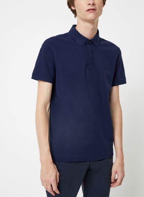 Vêtements Lacoste Polo Regular Fit Manches Courtes Bleu vue détail/paire