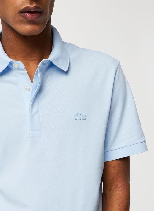Vêtements Lacoste Polo Regular Fit Manches Courtes Bleu vue face