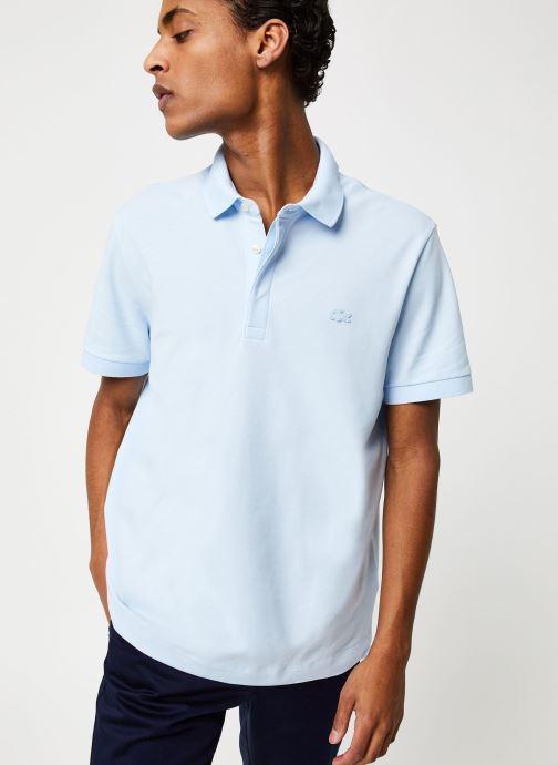 Vêtements Lacoste Polo Regular Fit Manches Courtes Bleu vue droite