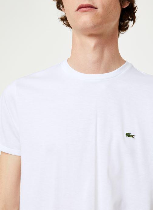 Vêtements Lacoste Tee-Shirt Classique Manches Courtes Blanc vue face