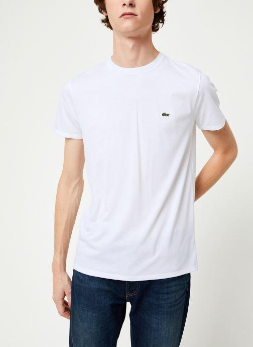 Vêtements Lacoste Tee-Shirt Classique Manches Courtes Blanc vue droite