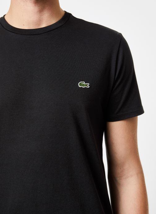 Vêtements Lacoste Tee-Shirt Classique Manches Courtes Noir vue face