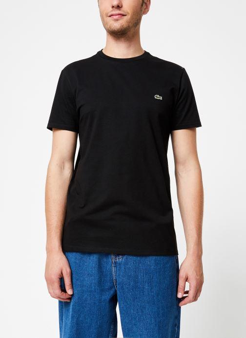 Vêtements Lacoste Tee-Shirt Classique Manches Courtes Noir vue droite