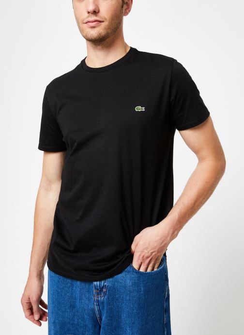 Vêtements Lacoste Tee-Shirt Classique Manches Courtes Noir vue détail/paire