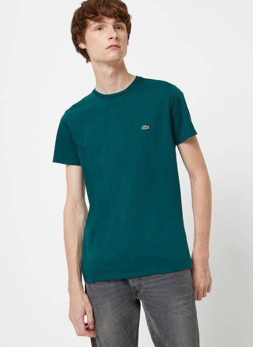 Kleding Lacoste Tee-Shirt Classique Manches Courtes Bruin rechts