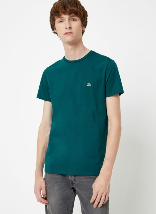 Kleding Lacoste Tee-Shirt Classique Manches Courtes Bruin detail