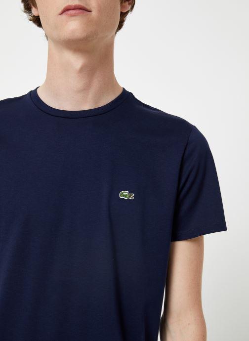 Vêtements Lacoste Tee-Shirt Classique Manches Courtes Bleu vue face