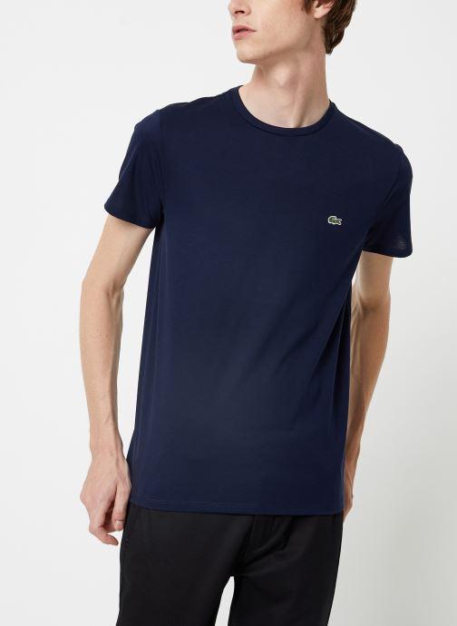 Vêtements Lacoste Tee-Shirt Classique Manches Courtes Bleu vue droite