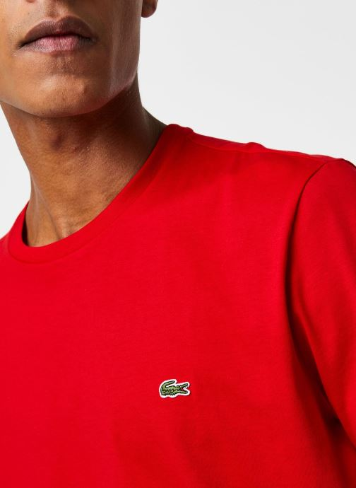 Kleding Lacoste Tee-Shirt Classique Manches Courtes Rood voorkant