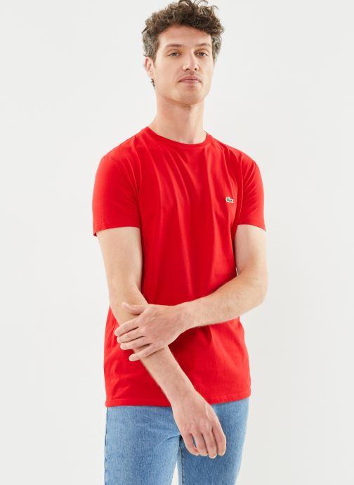 Kleding Lacoste Tee-Shirt Classique Manches Courtes Rood rechts