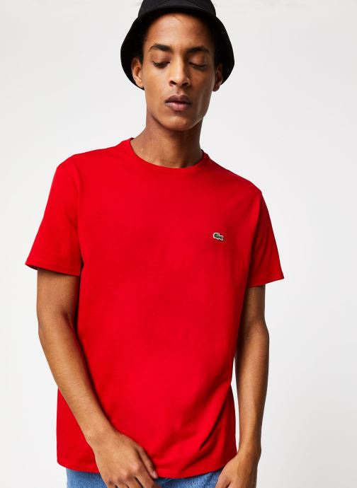 Kleding Lacoste Tee-Shirt Classique Manches Courtes Rood detail