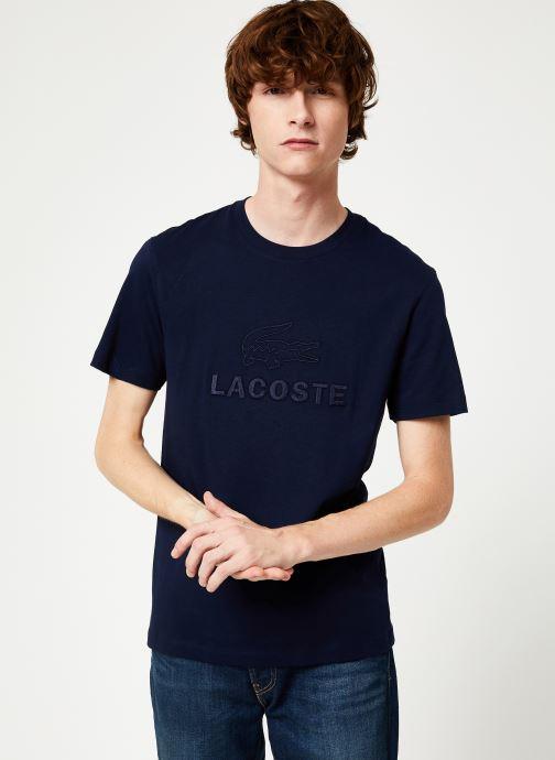 Vêtements Lacoste TH8602-00 Bleu vue droite