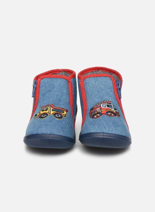 Chaussons Bopy Acamion Bleu vue portées chaussures