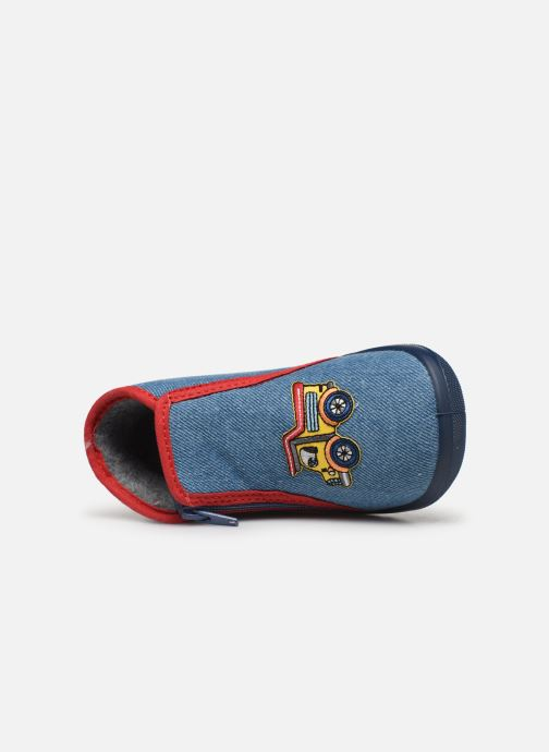 Slippers Bopy Acamion Blue view from the left