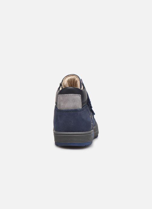 Sneaker Bopy Vinyl blau ansicht von rechts