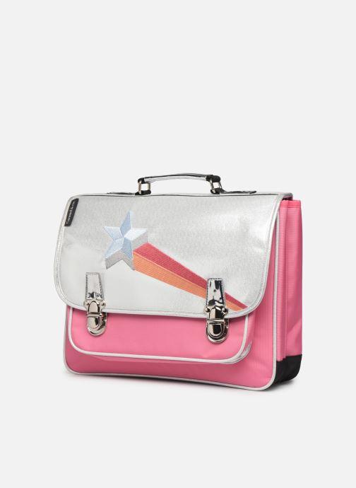 Schulzubehör Caramel & Cie Cartable Classique 37cm rosa schuhe getragen