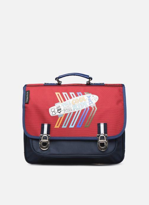 School bags Caramel & Cie Cartable Classique 37cm Red detailed view/ Pair view