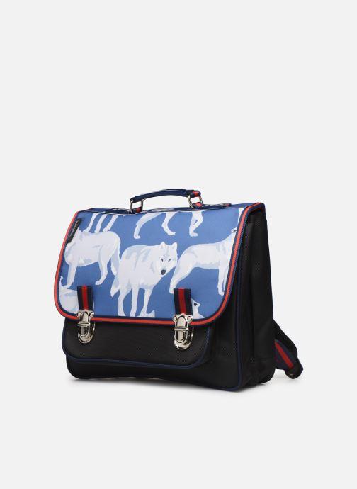 Scolaire Caramel & Cie Cartable Classique 37cm Bleu vue portées chaussures
