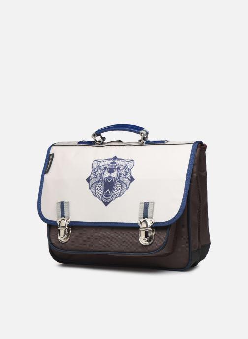 School bags Caramel & Cie Cartable Classique 37cm Beige model view