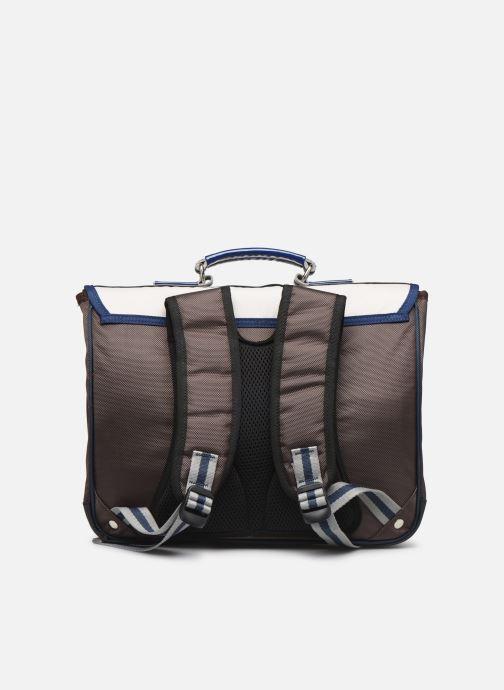 School bags Caramel & Cie Cartable Classique 37cm Beige front view
